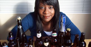 Marverine Cole - Beer Beauty - woman with bottles of real ale