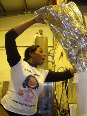 Me getting the hops ready for the boil