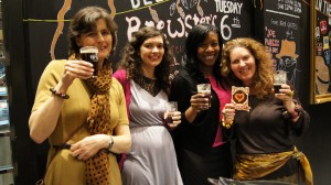 Sara, Shea, Me and Jane launching our beer - Chocolate Cyn! (Pic: London Cocktail Scholars)