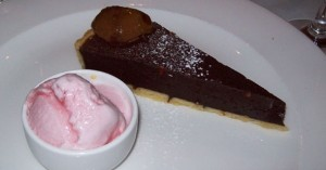 Raspberry dessert tried with Duvel  at White Horse pub in 2011