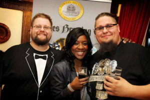 Me, James and Tom from Fownes Brewing