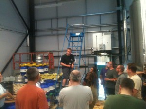 Steve from Stewart Brewing addressing the crowd