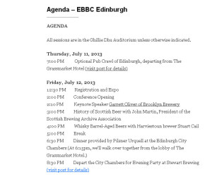 #EBBC13 agenda Edinburgh - Beer Beauty