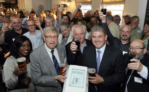 British Guild of Beer Writers toasting 25 years in existence