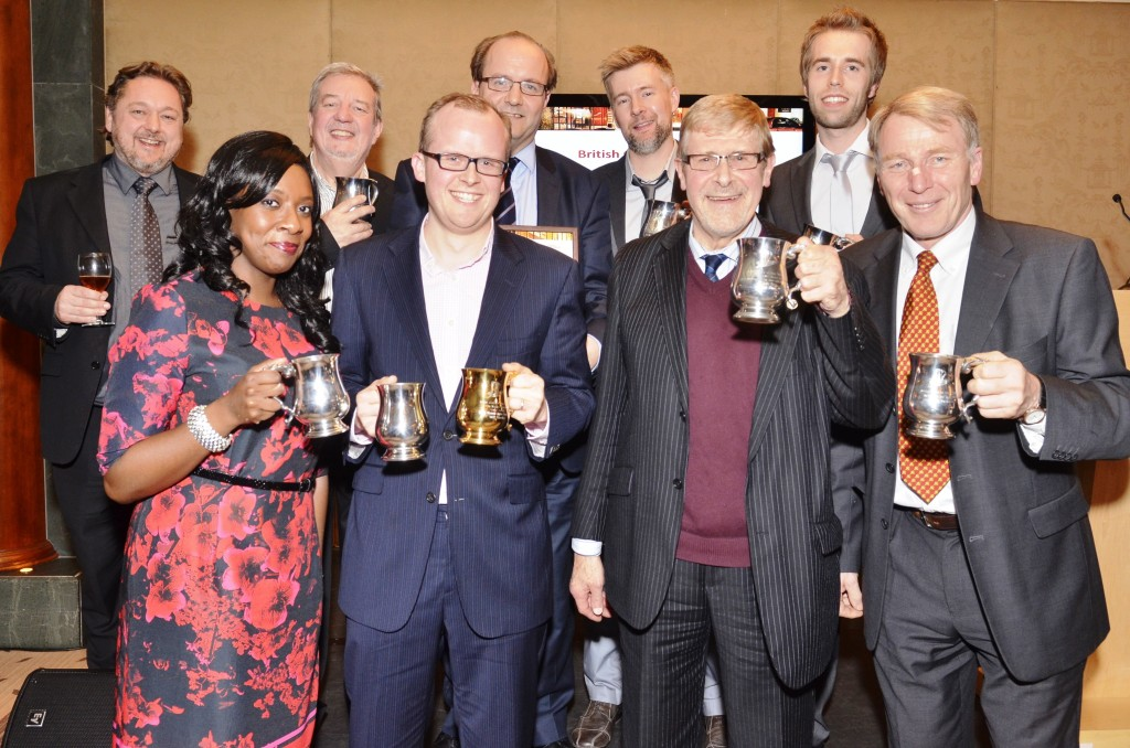 Winners of the 2013 British Guild of Beer Writers Awards